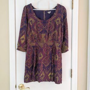 Urban Outfitters Ecote Patterned Mini Dress, Small